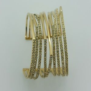 Chunky gold bangle
